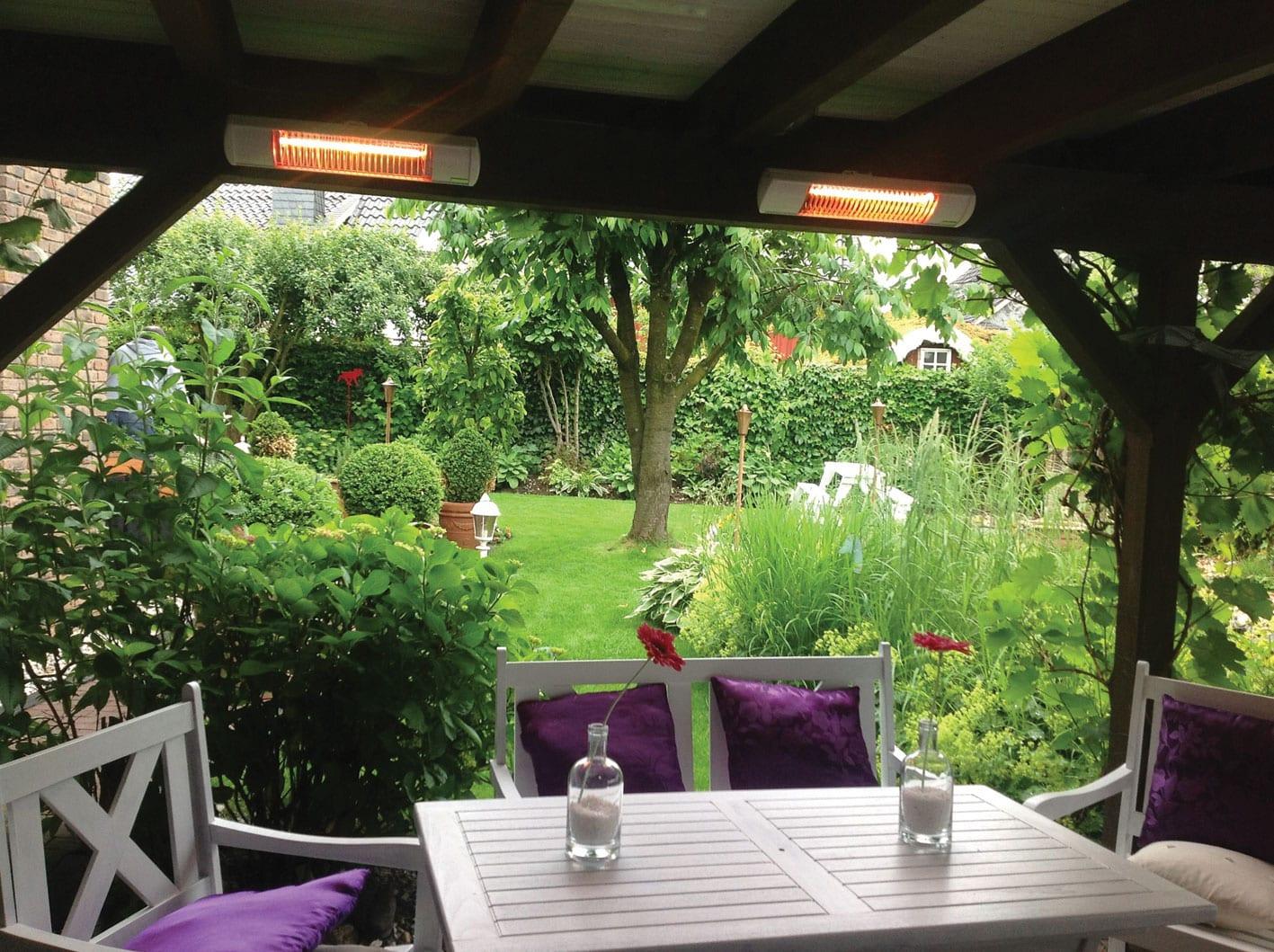 Med terrassevarmere gjør du det lunt og fint på terrassen